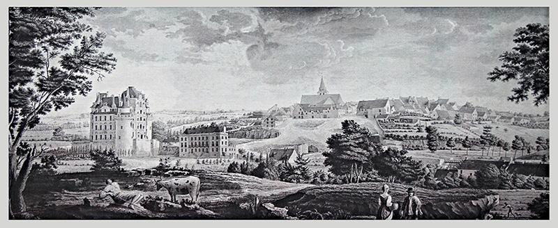 Brissac et ses deux châteaux - 1815 par Victorine Versillé.