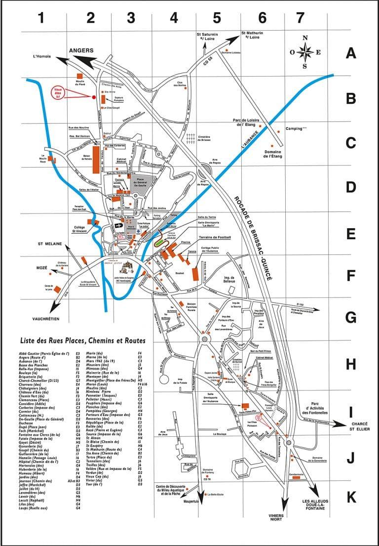 Plan actuel de Brissac-Quincé