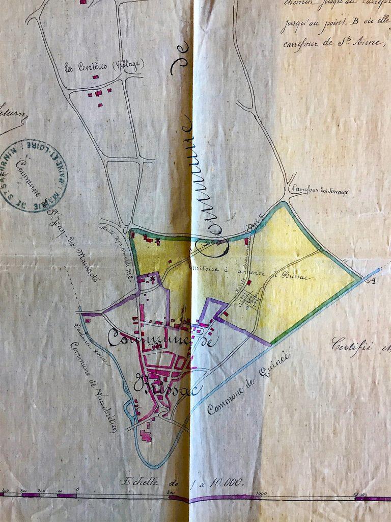 Plan d'agrandissement de Brissac - 1875