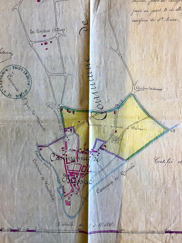 Plan d'agrandissement – 1875