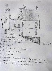 Plan de l'aumônerie Saint-Martin-Brissac