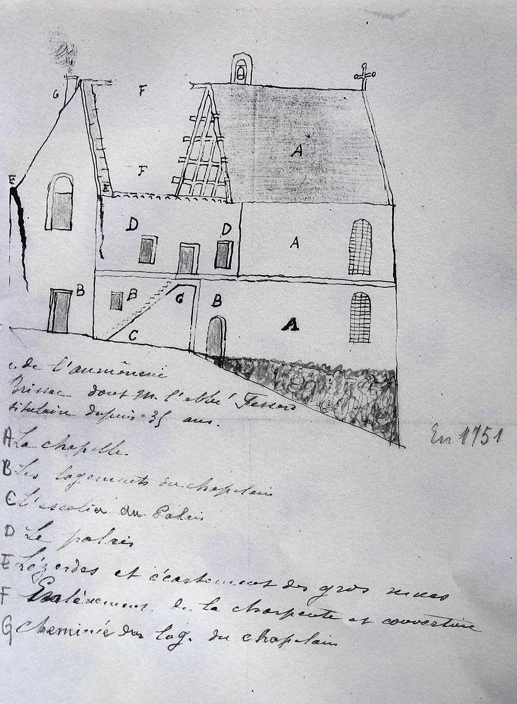 Plan de l'aumônerie Saint-Martin de Brissac