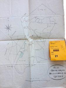 Plan géometrique de Quincé