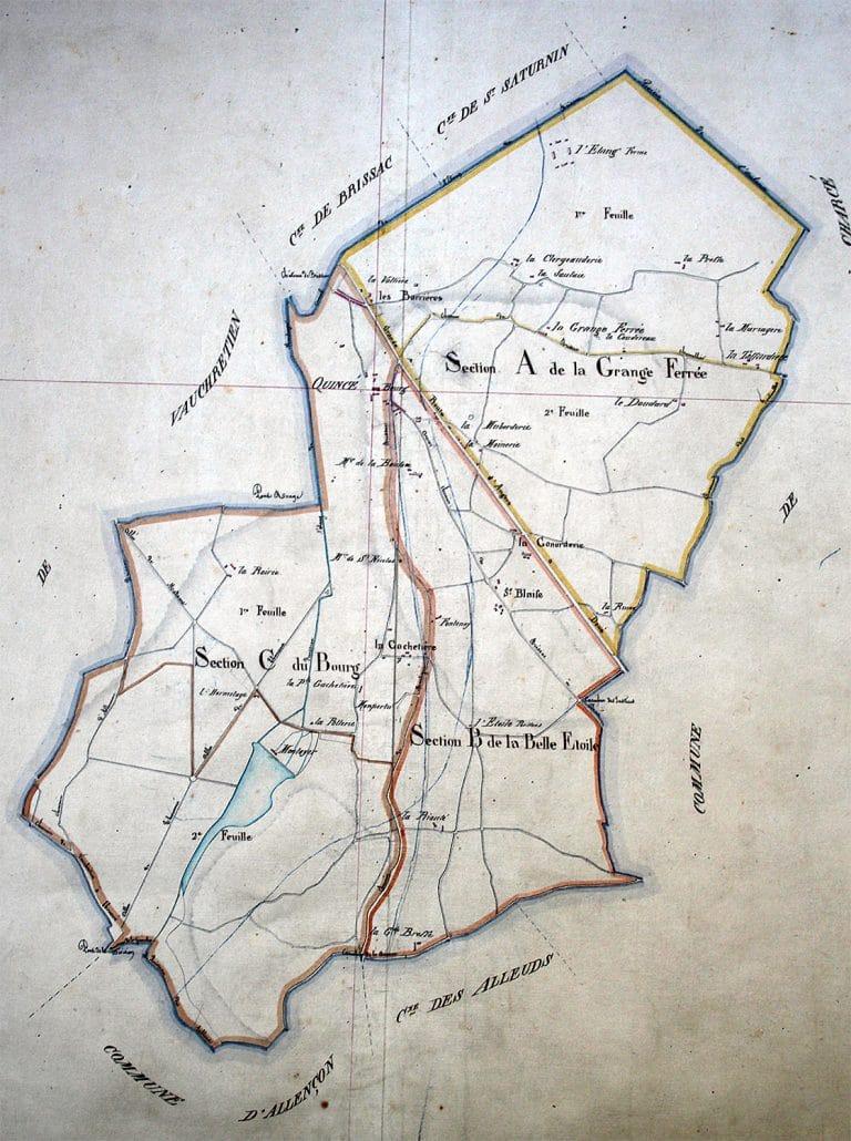 Plan Quincé assemblage 1824
