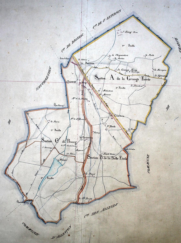 Plan Quincé assemblage – 1824