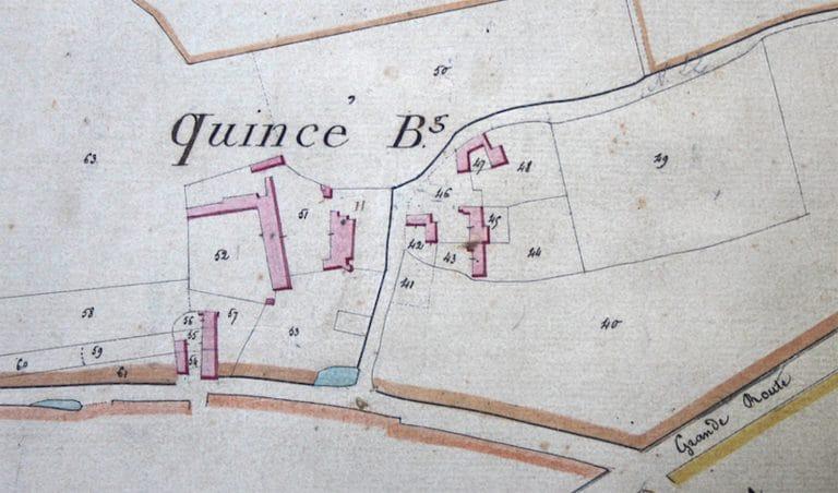 Plan-Quincé bourg 1824