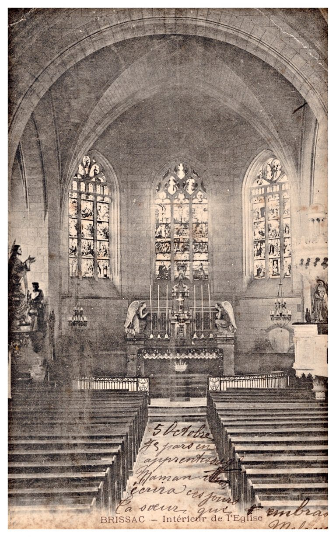 Carte postale, intérieur de l'église