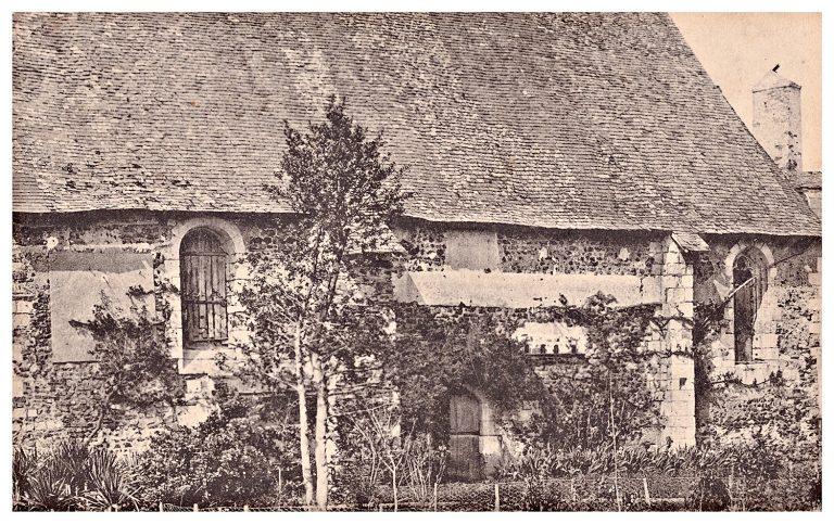 Carte postale vieille église de Quincé