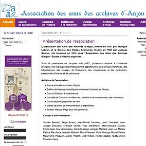 You are currently viewing Association des Amis des Archives d'Anjou (Les 4A)